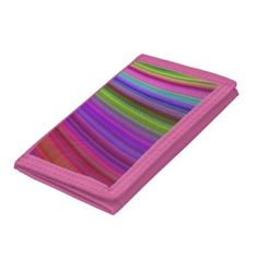 Happy spring stripes trifold wallets $16.55 *** Happy spring stripes - colorful curved stripe design - wallet