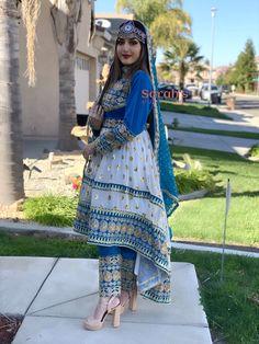 Traditional three-piece Dress Beautiful Pakistani Dresses, Pakistani Dress Design, Pakistani Outfits, Indian Outfits, Kurti Neck Designs, Kurta Designs Women, Stylish Dresses, Casual Dresses, Afghani Clothes