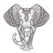 Elefante elegante — Vector de stock #86003722