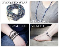 3 in 1 Anklet / Bracelet / Necklace. Perfect Summer Jewelry Fashion <3 by SpotLightJewelry