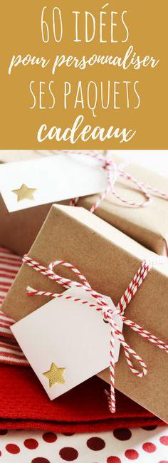 Des pommes de pain, du houx, des sucres de canne : 60 idées pour personnaliser et customiser vos paquets cadeaux de Noël !