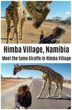 The himba village where the giraffe is living is located in Kamanjab, Namibia. This giraffe is tame and living with the traditional himba's. Mini Vacation, More Fun, Backpacking, Giraffe, Camel, Adventure, Travelling, Wanderlust, Bucket