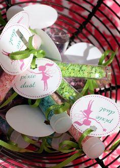 Fairy Garden Birthday Party - confetti cutouts and glitter Garden Birthday, Fairy Birthday Party, 4th Birthday Parties, Party Garden, Birthday Ideas, Fairy Party Favors, Party Favours, Princess Birthday, 5th Birthday