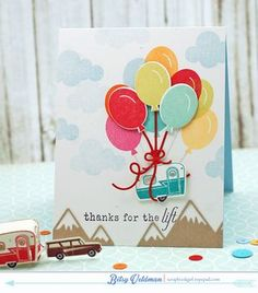 Thanks For The Lift Card by Betsy Veldman for Papertrey Ink (June 2015)