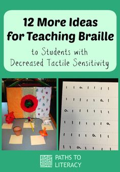 Collage of 12 more ideas for teaching braille