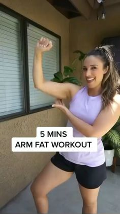 5 Min Arm Workout, Gym Workout Videos, Gym Workout For Beginners, Fitness Workout For Women, Body Fitness, Easy Workouts, Fitness Tips, Health Fitness, Arm Fat