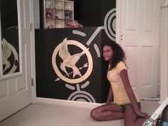 Hunger Games Trilogy painted bedroom