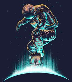 Arte SPACE GRIND de Carbine   Disponível em poster e case de celular. Só na @toutsbrasil