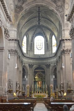 Saint-Sulpice Saint-Sulpice (French pronunciation: [sɛ̃sylpis]) is a Roman Catholic church in Paris, France, on the east side of the Place Saint-Sulpice within the rue Bonaparte, in the Luxembourg Quarter of the VIe arrondissement.