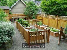 Высокий огород, высокие грядки на огороде, поднятый огород, идеи для маленького огорода