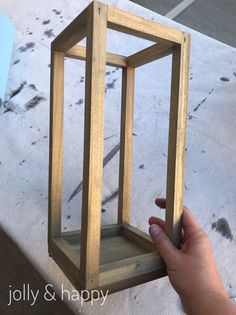 Rustic fixer upper inspired wood lantern wood lantern How To Make a Lantern Diy Candle Lantern, Lantern Centerpieces, Wooden Lanterns, Wood Candle Holders, Lanterns Decor, Outdoor Lantern, Woodworking Projects Diy, Diy Wood Projects, Youtube Woodworking