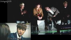EXO drama VCR Melon Awards - SHINee reaction SPLIT SCREEN.... the first part HAHAHAHHAAH!!