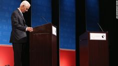 Florida Gov. Rick Scott refused to go onstage for the first seven minutes of a debate Wednesday night, because his opponent had a fan.
