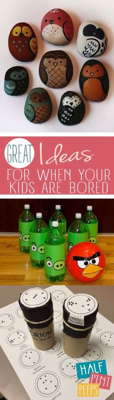 """Great Ideas for When Your Kids Are """"Bored""""