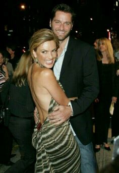 Beautiful  Mariska Hargitay with her husband Peter Hermann