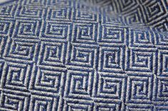 Medium Weight Upholstery Designer Pillow Cover. *Front Fabric: Pindler Designer Woven Fabric, Navy and Gray/Silver(not metallic) Fabric *Back Fabric: Gray, Ivory or Navy Linen Backing  *This listing is for One Pillow Cover. The Pillow Insert is not included. - Invisible YKK zipper enclosure for a tailored look - All seam are surged and double stitch for durability and professional finish - Dry clean recommended.  I recommend that you fill your pillow cover with a down pillow form that is 2…