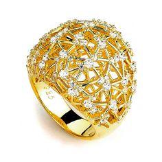 Big Sparkle Dome CZ Ring (14K Yellow Gold) – CZ Sparkle Jewelry®