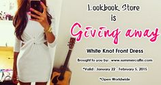 SummerCaffe: Amazing Giveaway from LookBook Store - Win a White Knot Front Dress! http://www.summercaffe.com/2015/01/amazing-giveaway-from-lookbook-store.html