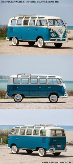 Car Pictures: 1966 Volkswagen 21-Window Deluxe Micro Bus...Re-Pin brought to you…