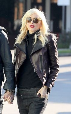 Gwen always strikes the perfect balance between rock and glam. Ladylike tough.