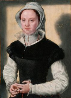 Caterina van Hemessen (Flemish painter, 1527-1587), Lady in 16th-Century Costume, oil on panel. B.M.147. Bowes Museum, Durham, England