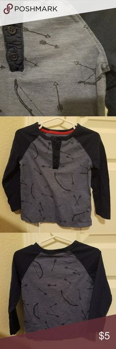 Cupid's Bow Henley Adorable for your little Valentine. EUC Old Navy Shirts & Tops