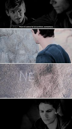 Maze Runner - Newt and Thomas - You can't give up. I won't let you.