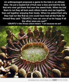 AFRICAN KIDS: UBUNTU - HOW CAN ONE OF US BE HAPPY?