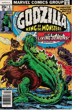 Godzilla 5 December 1977 Issue  Marvel Comics  by ViewObscura
