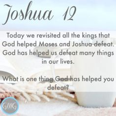 Discussion Questions Joshua 12