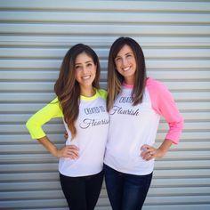 NEON PINK & WHITE Women's Created to Flourish by JuniperNash