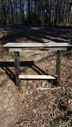 Cedar board table