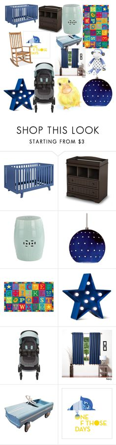 """""""Twin's baby's room"""" by weirdothatloveshp ❤ liked on Polyvore featuring interior, interiors, interior design, home, home decor, interior decorating, Shermag, South Shore, POPTIMISM! and Lights Out"""