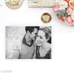 Printable Save the Date  Confetti   5x7 Save by blushprintables, $35.00