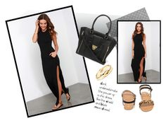 Black Maxi Dress by ajla-p on Polyvore featuring polyvore fashion style Lulu*s Restricted maxidress blackdress