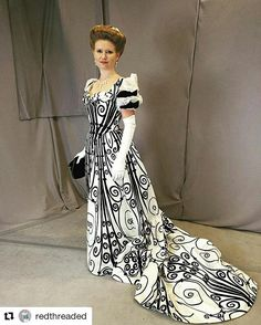 Redthreaded, super impressive Worth wrought iron gown replica