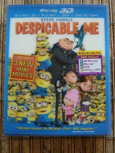 Despicable Me Blu-ray DVD 3D & Digital Copy 4 Disc Set Minions Animated Cartoon $27.99 Free Shipping Buy It Now on eBay Vintage Assets