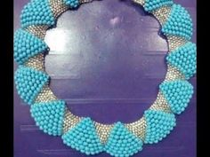 the tutorial on how to make this beautiful wave bead necklace. - YouTube