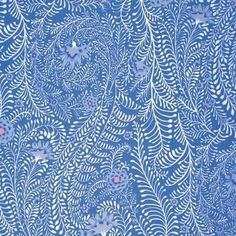 Free Spirit Fabrics Kaffe Fassett 2015 Collective Periwinkle Ferns 884424181909 | eBay Cotton Quilting Fabric, Cotton Quilts, Free Spirit Fabrics, Thing 1, Periwinkle Blue, Purple, Clothes Crafts, Quilt Kits, Flower Crafts