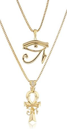 Goldtone Eye of Horus & Ankh Micro Pendant Layered 24-30  Inch Box Chain Set http://www.evthm.com/index.php/product/goldtone-eye-of-horus-ankh-micro-pendant-layered-24-30-inch-box-chain-set/