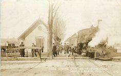 Depot, Michigan, Albion,RPPC, Lake Shore Railroad,Train, Homer Blair No 11-60