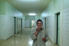 mental hospital patients   Siham, a patient at Rashad Psychiatric Hospital, smokes in the Ibn ...