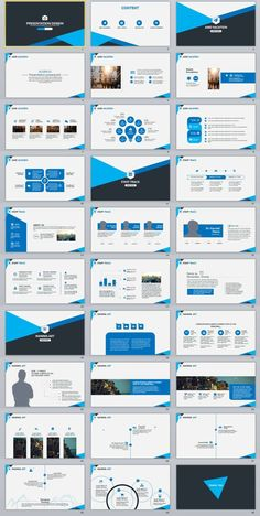 30+ Blue business report PowerPoint Template