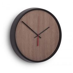 Madera Wall Clock - The Madera Wall Clock from Umbra possesses a rustic charm that you don't see much in modern furniture. The Ashwood veneer face is finished with a walnut . Bathroom Sconce Lighting, Bathroom Wall Sconces, Home Design, Modern Design, Bedroom Furniture For Sale, Aluminum Rims, Retro Clock, Modern Clock, Wall Lights