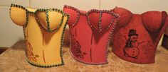 Paper gift bag - corset