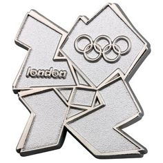 London 2012 Olympic silver logo pin badge  Product code: 30060712  £6.00