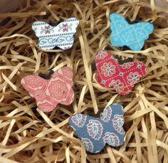 butterfly brooch wooden decoupage butterfly brooch spring accessory