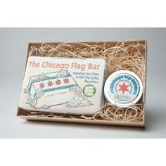 Chicago flag soap & lip balm