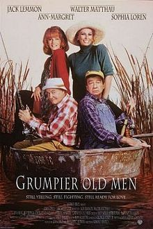 Grumpier Old Men //  Directed by	Howard Deutch  Produced by	John Davis  Richard C. Berman  Written by	Mark Steven Johnson  Starring	Jack Lemmon  Walter Matthau  Ann-Margret  Ann Guilbert  Sophia Loren  Kevin Pollak  Daryl Hannah  Burgess Meredith  Music by	Alan Silvestri  Cinematography	Tak Fujimoto  Editing by	Billy Weber  Seth Flaum  Maryann Brandon  Distributed by	Warner Bros.  Release date(s)	  December 22, 1995