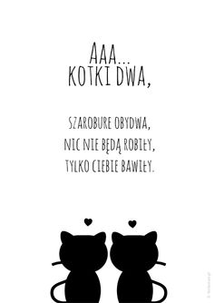 Plakat na dobranoc - Aaa kotki dwa